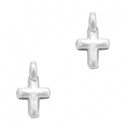 DQ European metal charms cross Antique Silver (nickel free)