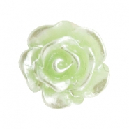 Rose beads 10mm Celery Ice Green-Silver Coating