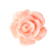 Rose beads 10mm White-Coral Peach