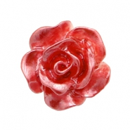 Rose beads 10mm White-Precious Rose Pearl Shine