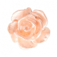 Rose beads 10mm White-Creamy Peach Pearl Shine