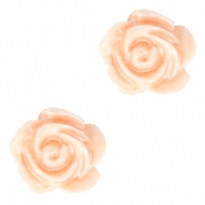 Rose beads 6mm White-Fresh Peach