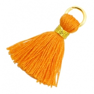 Tassels 1.8cm Gold-Flame Orange