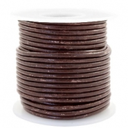 Benefit package DQ leather round 3 mm Vintage Driftwood Brown Metallic