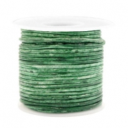 Benefit package DQ leather round 2 mm Vintage Classic Green Metallic