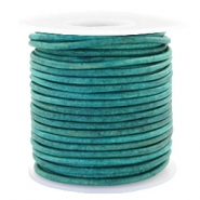 Benefit package DQ leather round 3 mm Vintage Dark Turquoise Green
