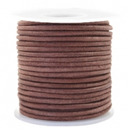 Benefit package DQ leather round 3 mm Red Brown-Vintage Finish
