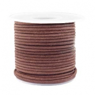 Benefit package DQ leather round 2 mm Red Brown-Vintage Finish