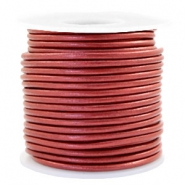 Benefit package DQ leather round 3 mm Moroccan Red Metallic