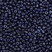 Glass seed beads 12/0 (2mm) Dark Blue Iris