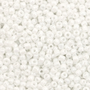 Glass seed beads 12/0 (2mm) Glacier White