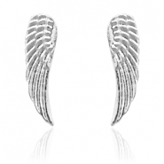 Trendy earrings studs angel wing Silver