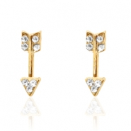 Trendy earrings studs arrow Gold