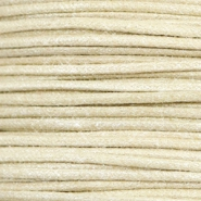 Waxed cord metallic 0.5mm Camel Beige