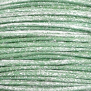Waxed cord metallic 1.0mm Leaf Green