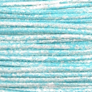 Waxed cord metallic 1.0mm Pacific Blue