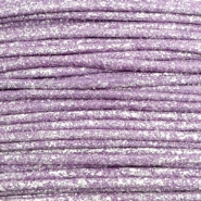 Waxed cord metallic 1.0mm Lavender Purple
