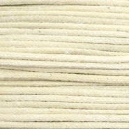 Waxed cord metallic 0.5mm Sand Beige