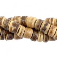 Coconut beads disc 5-6mm Light brown (natural colour coconut)