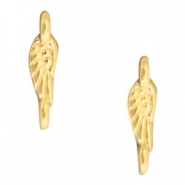 DQ European metal findings connector angel wings Gold (nickel free)