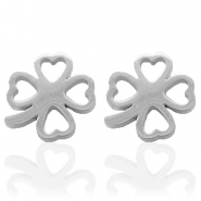 Stainless steel earrings clover Silver