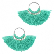 Tassels charm Silver-Turquoise