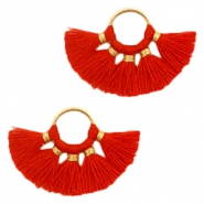 Tassels charm Gold-Red