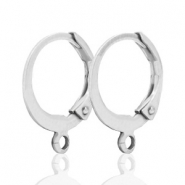 DQ earrings 15mm Silver plated