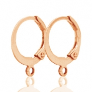 DQ earrings 15mm Rose gold plated