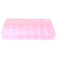 Jewellery display 28 compartment storage box Pink