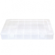 Jewellery display 28 compartment storage box Transparent