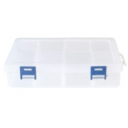 Jewellery display 8 compartment storage box Transparent