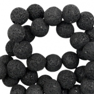 Katsuki beads/Lava 8mm Black