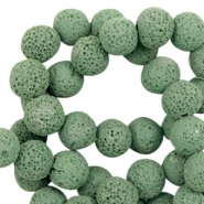 Katsuki beads/Lava 8mm Vivid Green