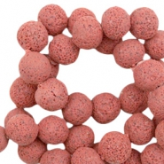 Katsuki beads/Lava 10mm Red Clay