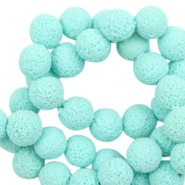 Katsuki beads/Lava 8mm Light Blue Radiance