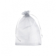 Jewellery Organza Bag 7x9cm Silver Grey