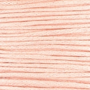 Waxed cord 1.0mm Pastel peach