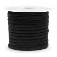Trendy flat cord suede style 3mm 3mm Black