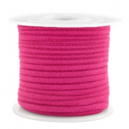 Trendy flat cord suede style 3mm 3mm Fuchsia