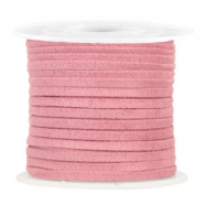 Trendy flat cord suede style 3mm 3mm Vintage Rose