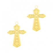 Bohemian charms cross Gold