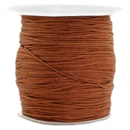 Macramé bead cord 1.0mm Chocolate Brown