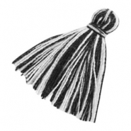 Tassels basic 2cm Black White