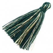 Tassels basic goldline 3cm Dark Green