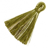 Tassels basic goldline 3cm Olive Green