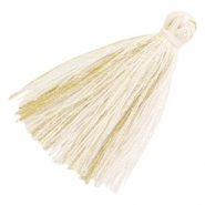 Tassels basic goldline 3cm Off White