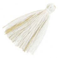 Tassels basic goldline 3cm White