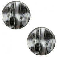 12 mm flat Polaris Elements cabochon Perseo Black Silver