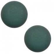 12 mm classic Polaris Elements cabochon matt Deep Lake Teal Blue